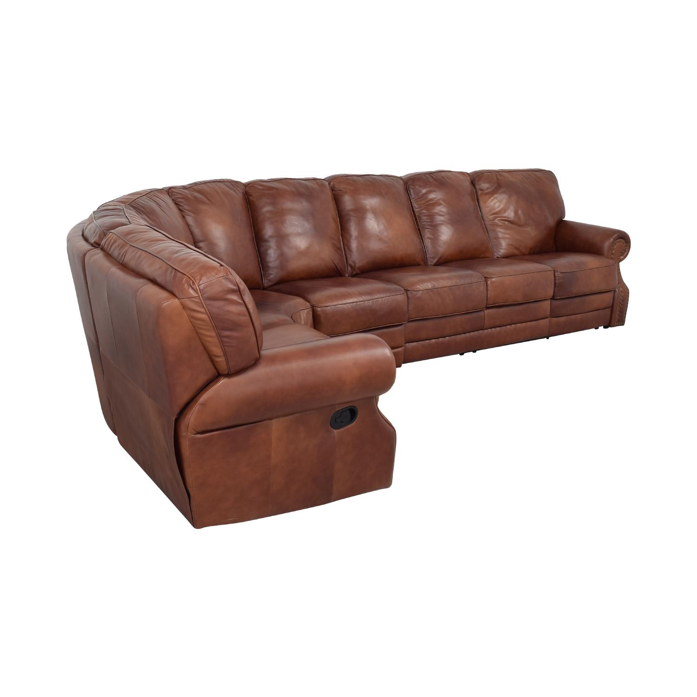 DeCoro DeCoro Rounded Corner Sectional Sofa for sale