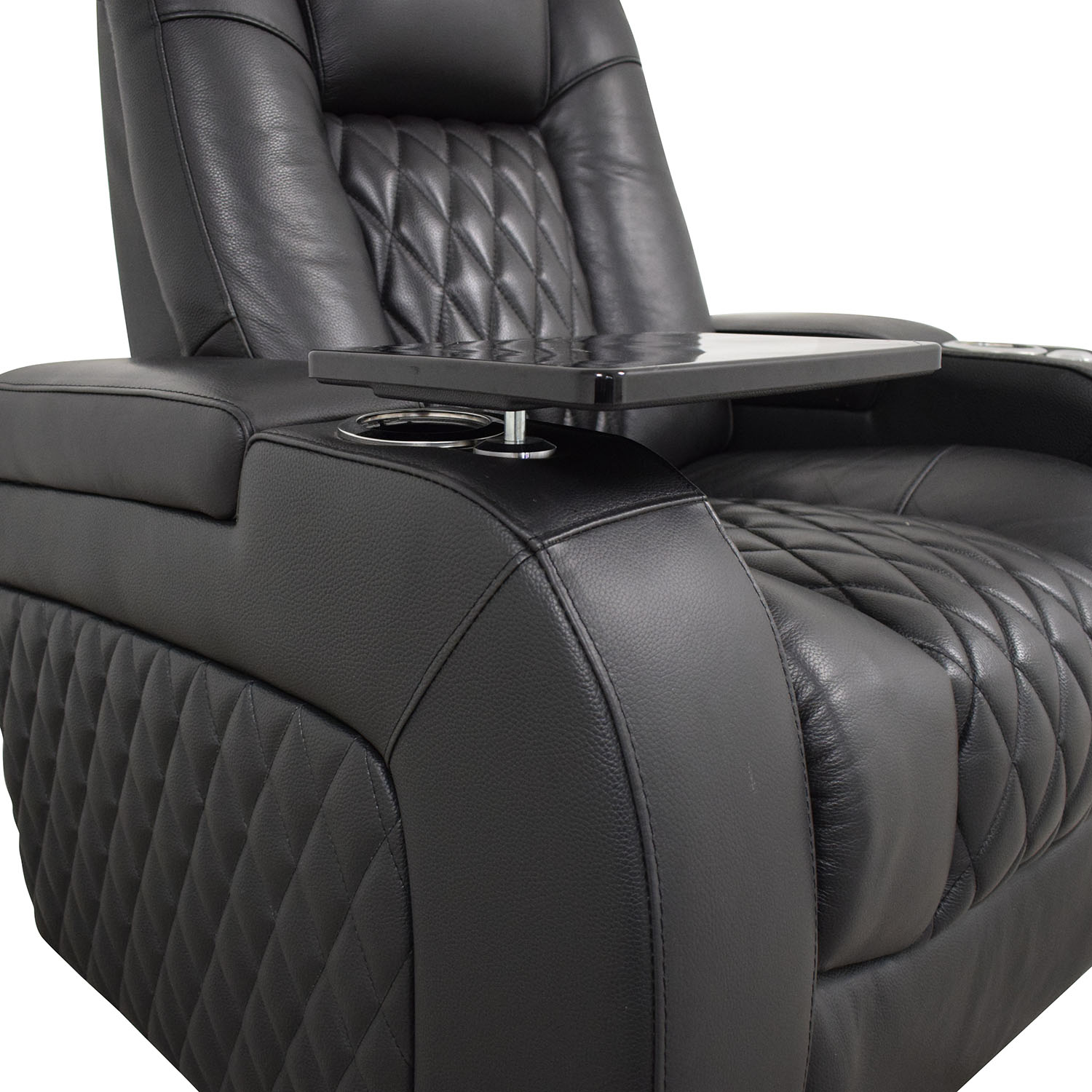 shop Seatcraft Diamante Home Theater Seating Leather Power Recliner Seatcraft