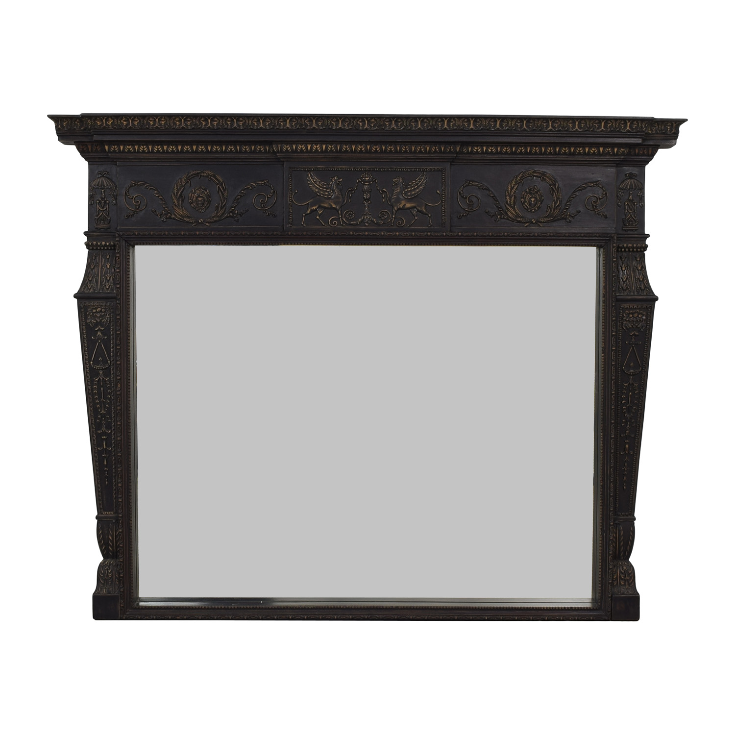 Carved Framed Mirror Decor