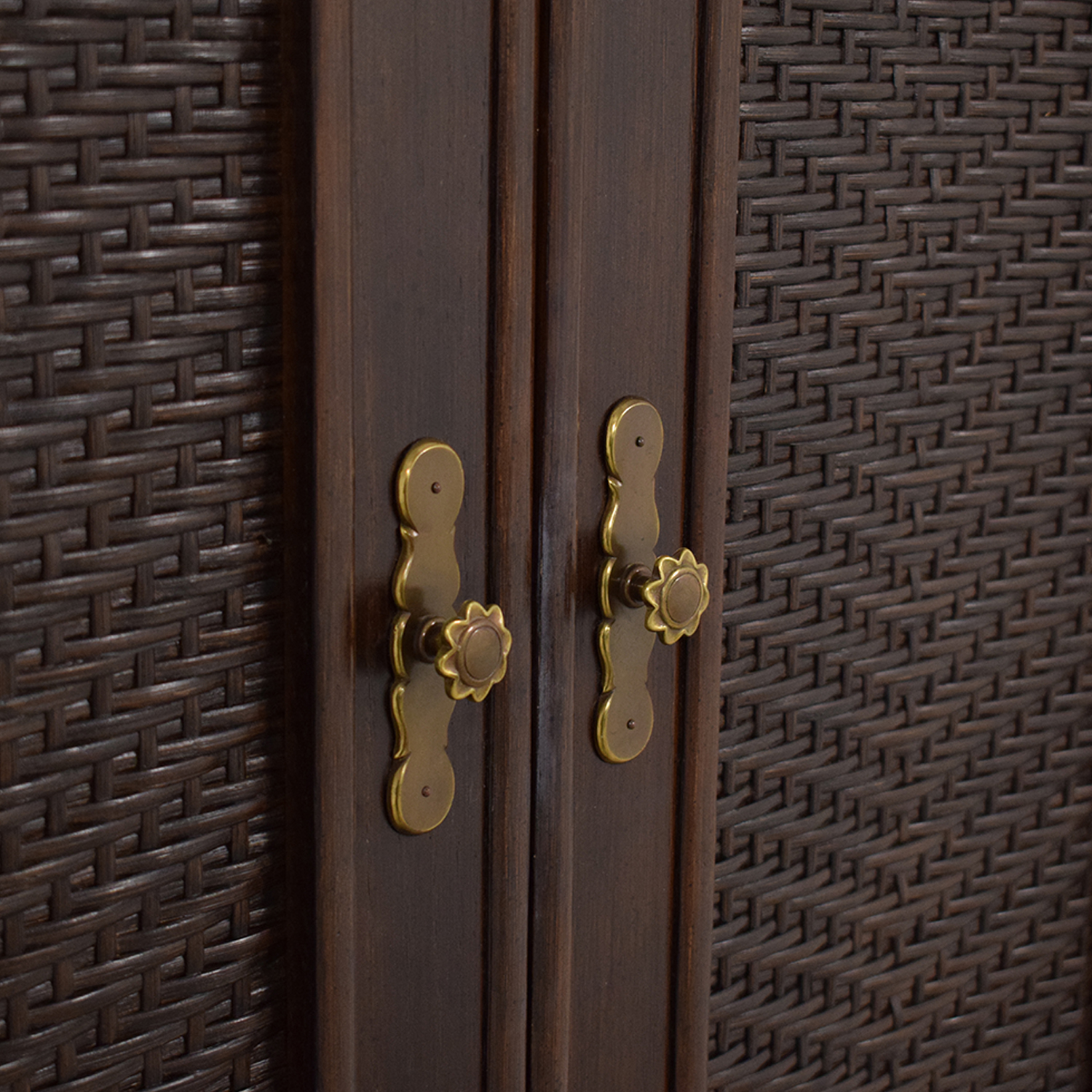 Ficks Reed Ficks Reed Rattan Armoire discount