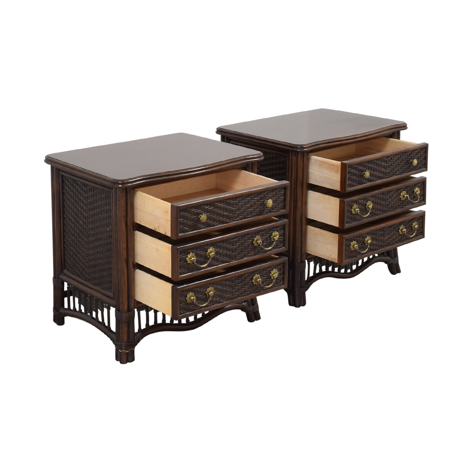 shop Ficks Reed Rattan Nightstands Ficks Reed Tables