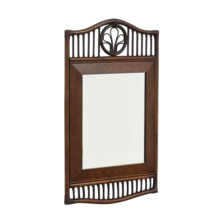 Ficks Reed Ficks Reed Rattan Wall Mirror dimensions