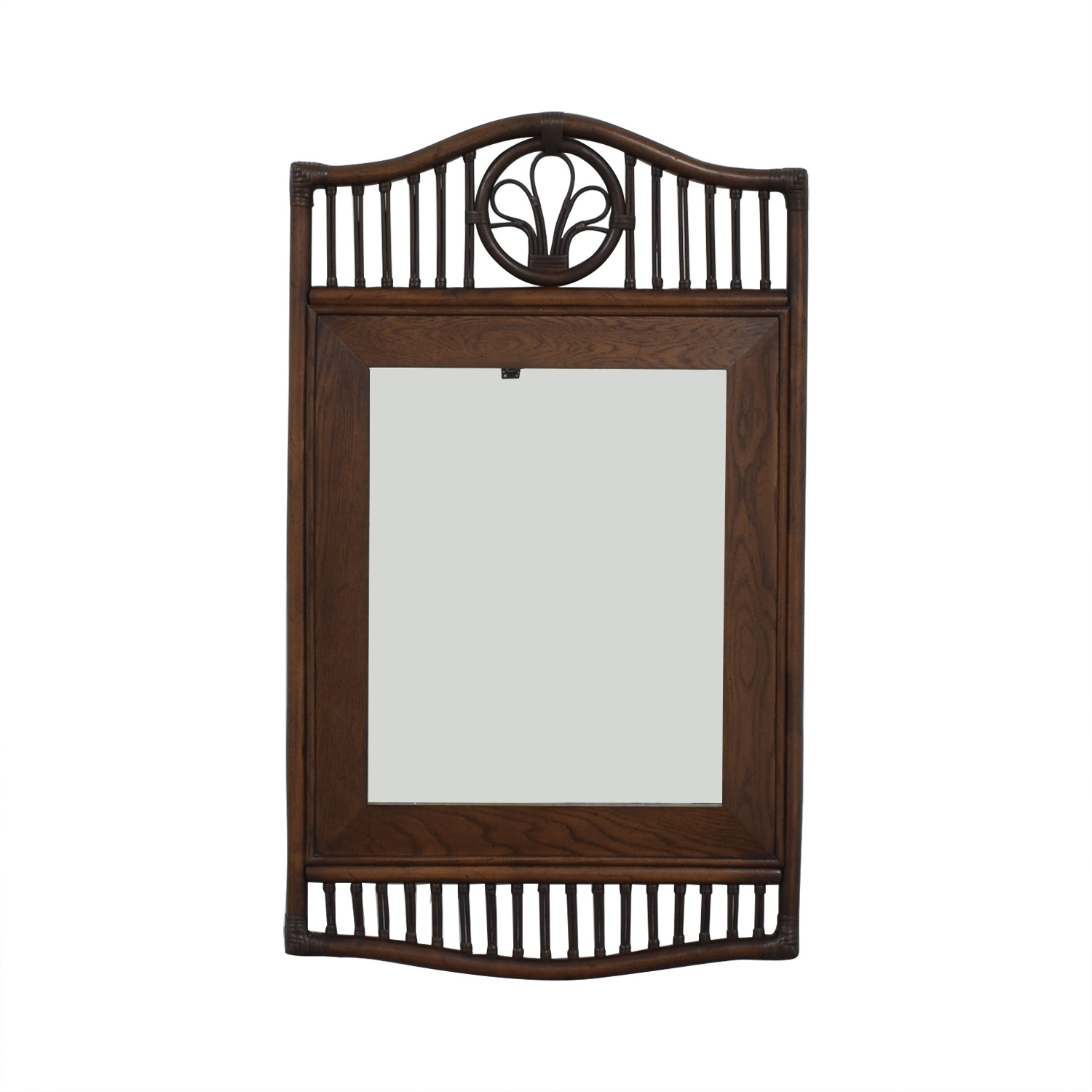 Ficks Reed Ficks Reed Rattan Wall Mirror for sale