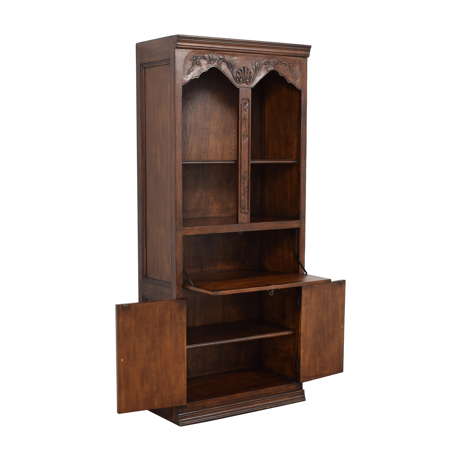 Bookcase with Cabinets dark brown