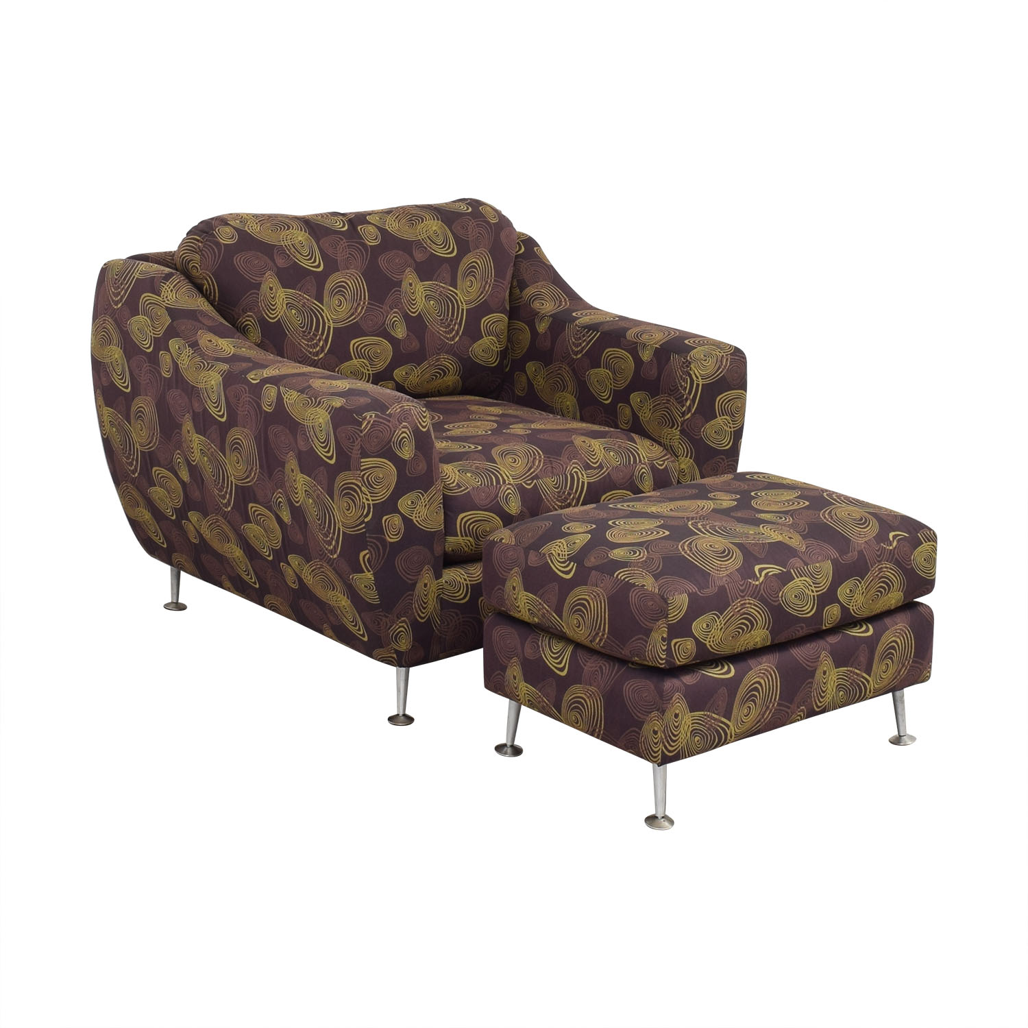 Carter Furniture Carter Accent Chair and Ottoman Chairs