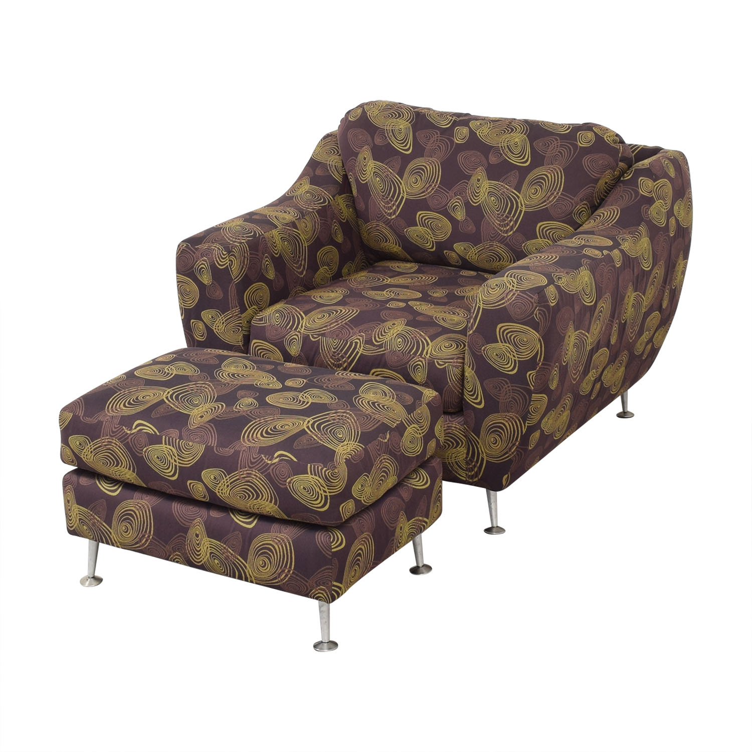 Carter Furniture Carter Accent Chair and Ottoman