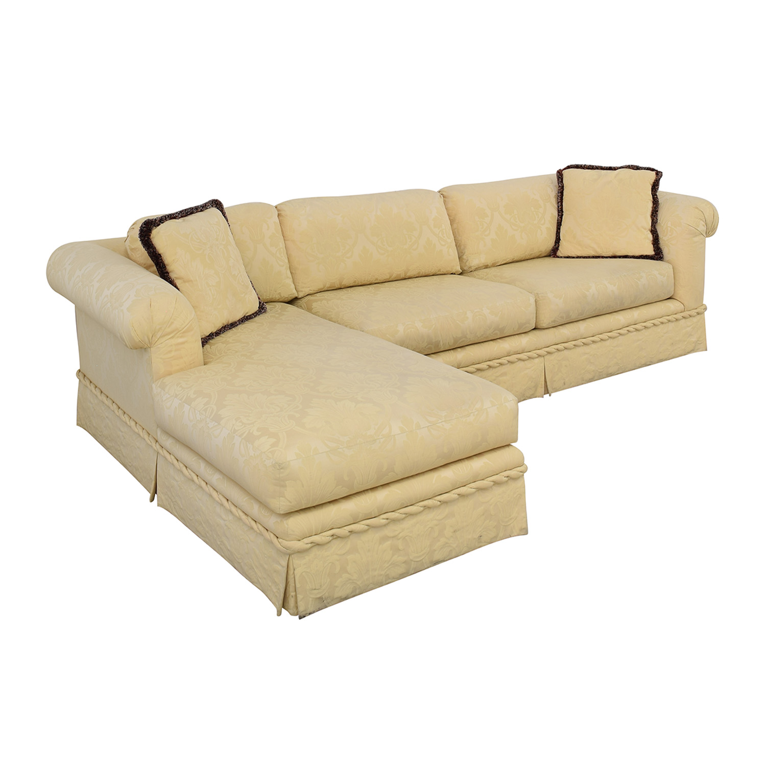 Kreiss Kreiss Chaise Sectional Sofa for sale