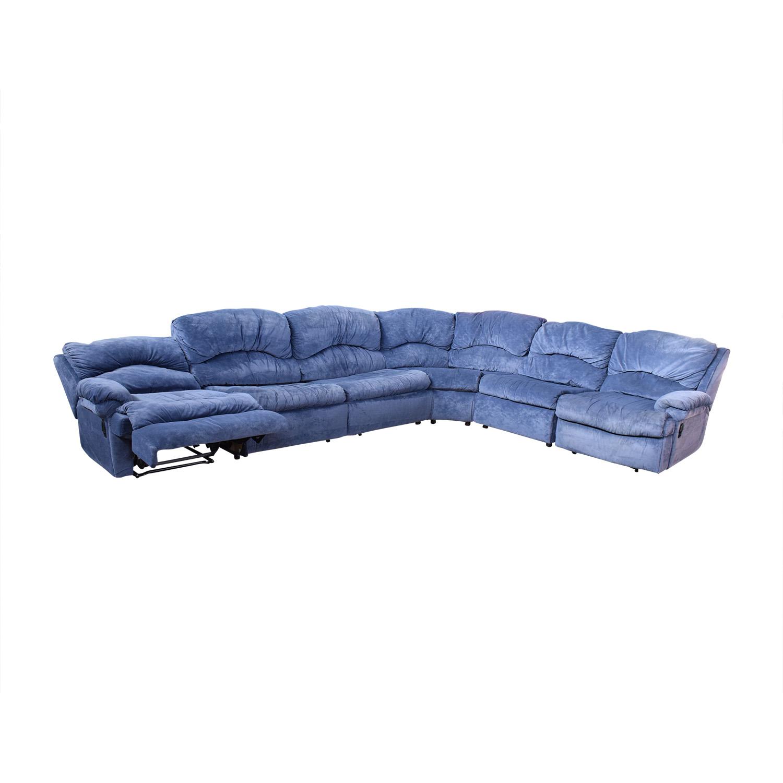 Raymour & Flanigan Raymour & Flanigan Sectional Sofa with Sleeper Sofas