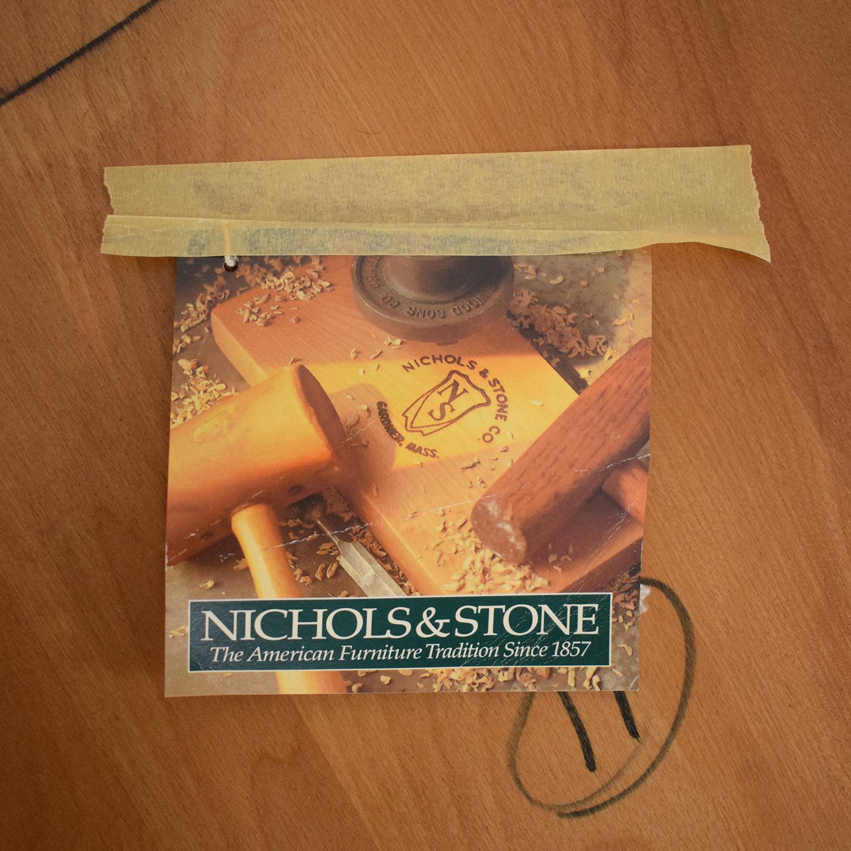 Nichols & Stone Nichols & Stone Stockbridge Pedestal Table brown & beige