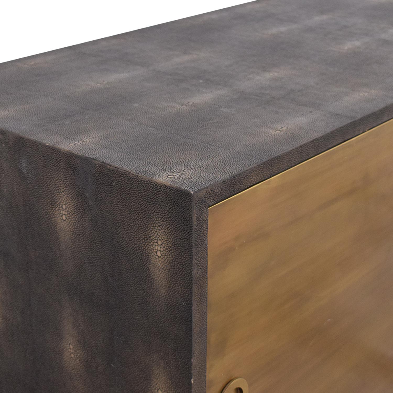 buy Noir Shagreen Cabinet Noir Cabinets & Sideboards
