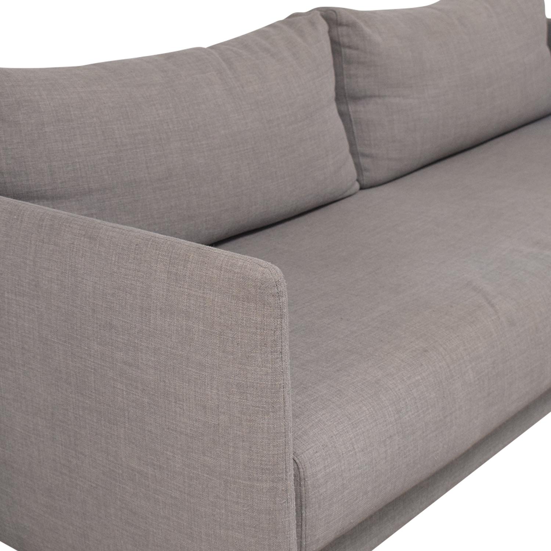 shop CB2 Tandom Microgrid Grey Sleeper Sofa CB2 Sofa Beds