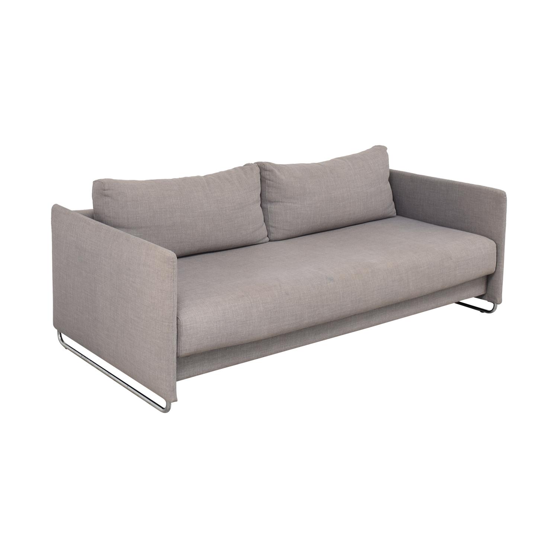 CB2 CB2 Tandom Microgrid Grey Sleeper Sofa used