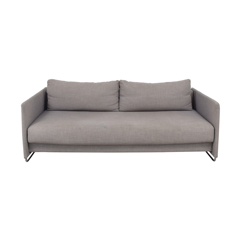 CB2 CB2 Tandom Microgrid Grey Sleeper Sofa second hand