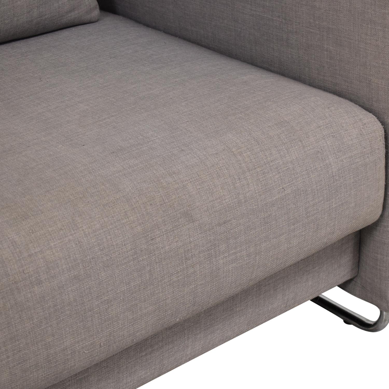 CB2 CB2 Tandom Microgrid Grey Sleeper Sofa discount