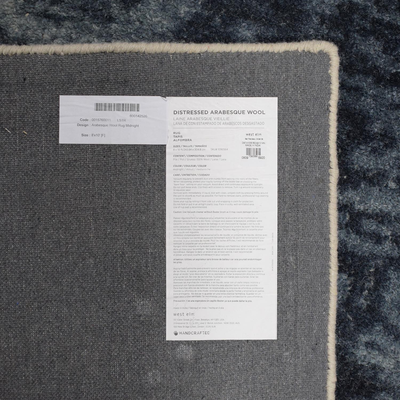 West Elm Distressed Arabesque 8x10 Wool Rug West Elm