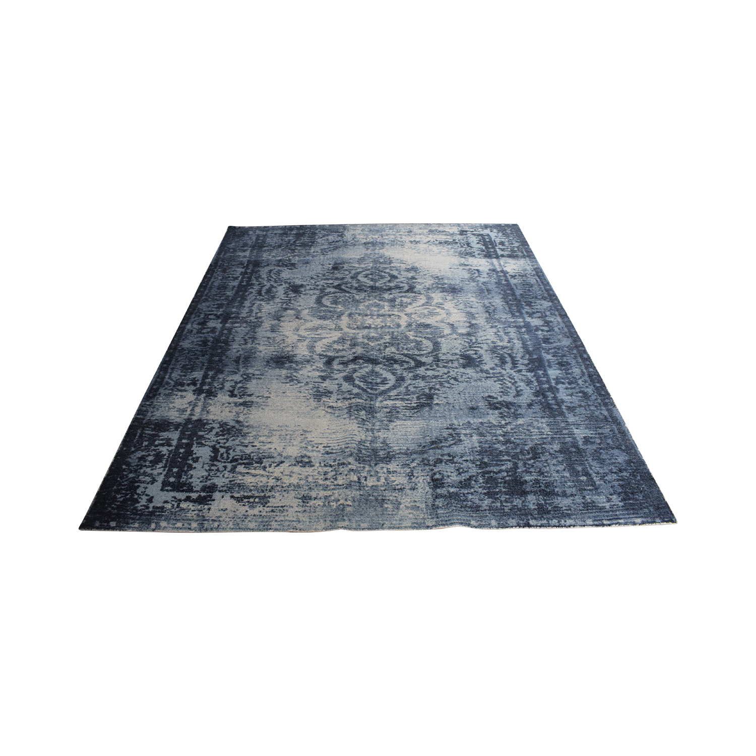West Elm West Elm Distressed Arabesque 8x10 Wool Rug for sale