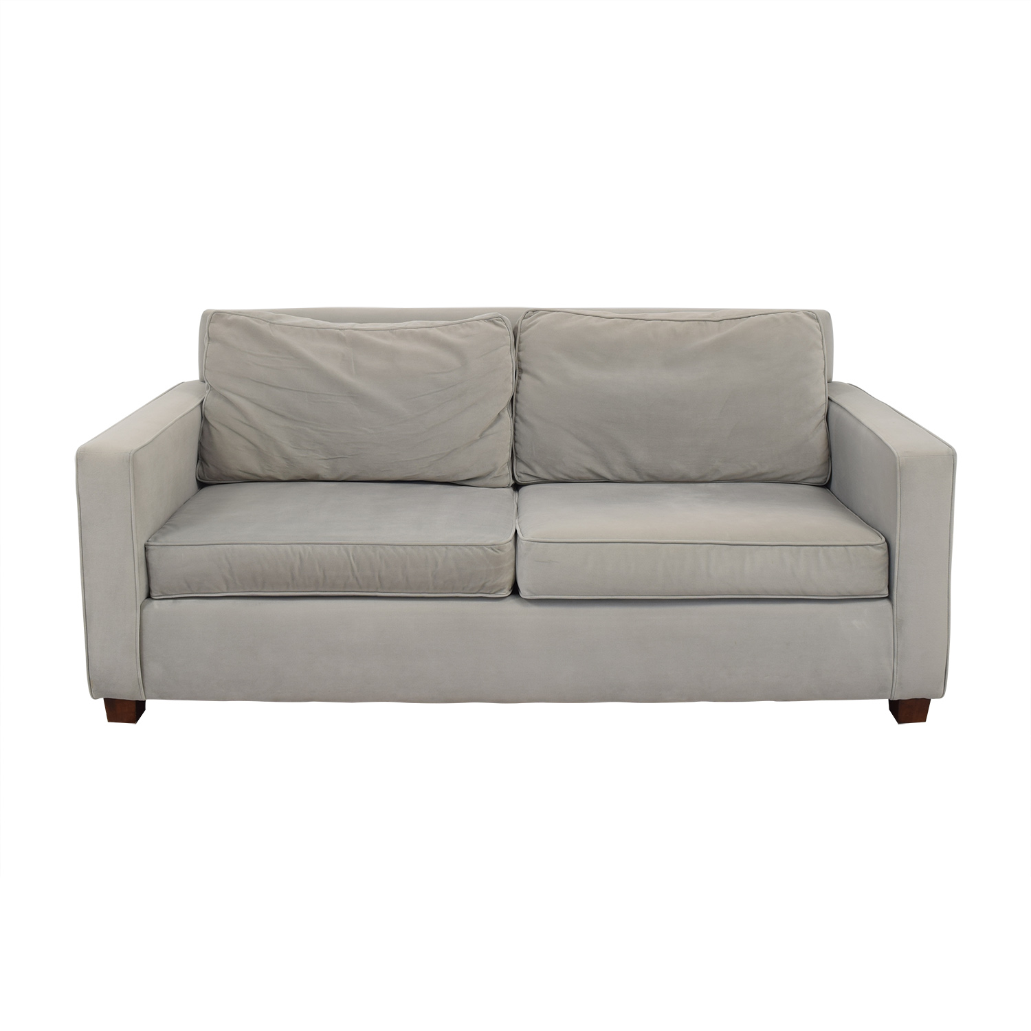 West Elm Henry Gray Microfiber Sofa ct