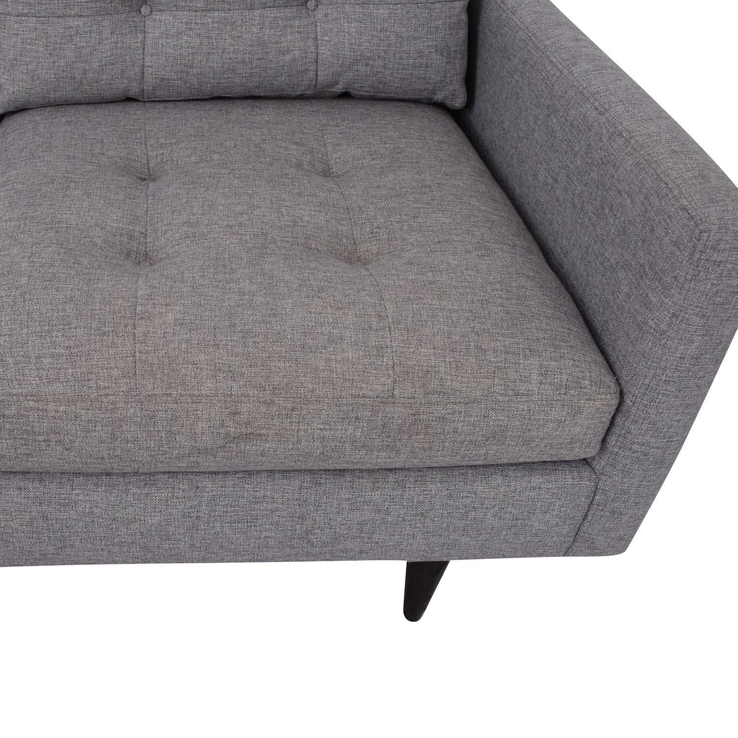 Crate & Barrel Crate & Barrel Petrie Mid Century Sectional Sofa with Chaise price