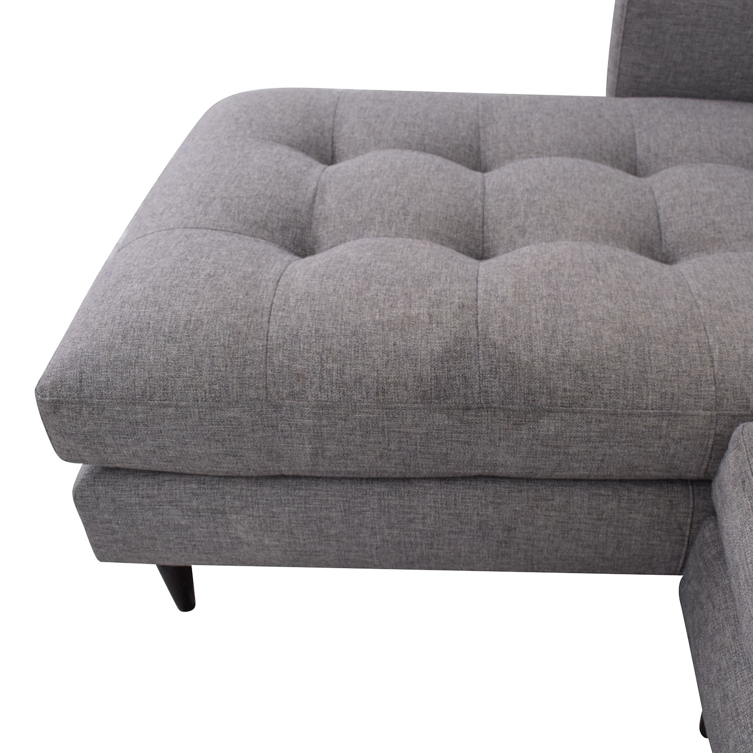 Crate & Barrel Crate & Barrel Petrie Mid Century Sectional Sofa with Chaise