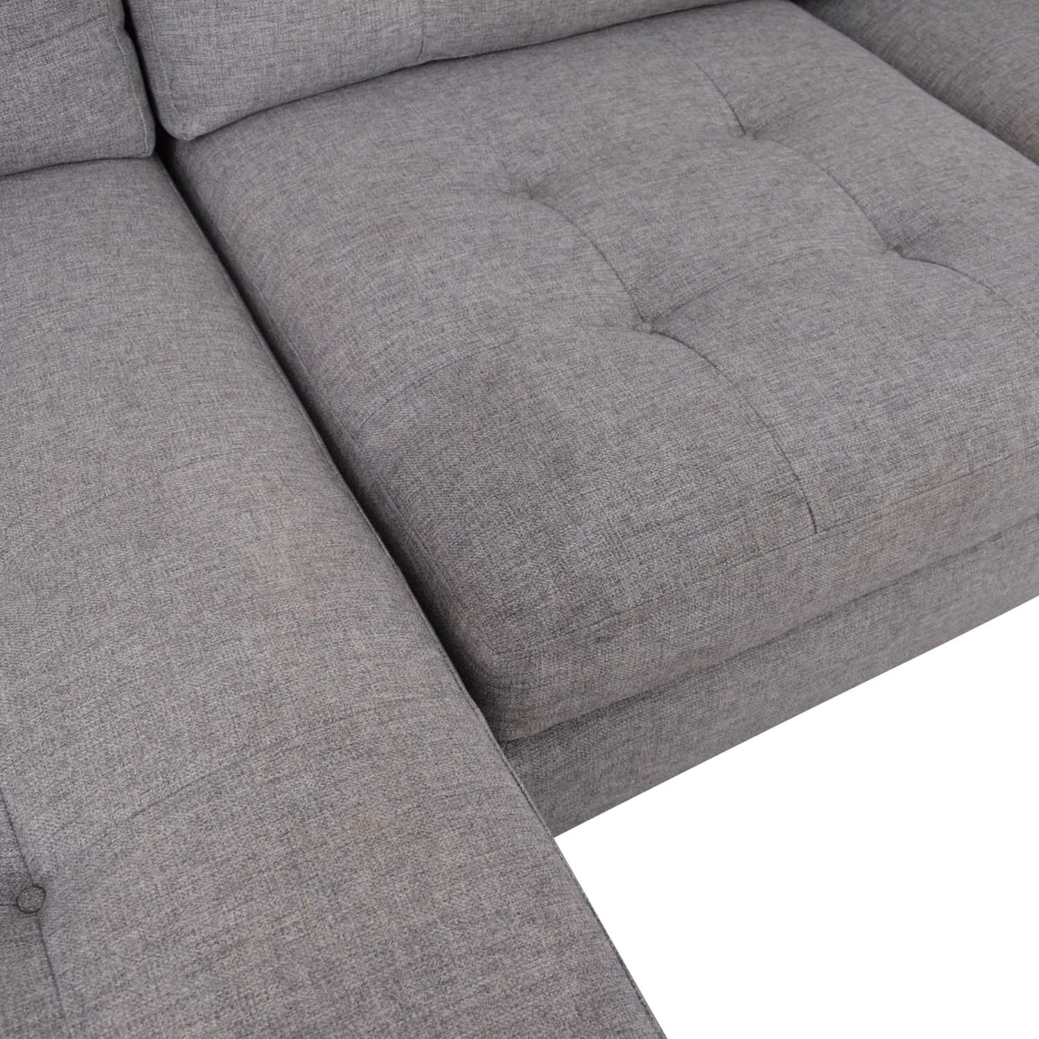 Crate & Barrel Crate & Barrel Petrie Mid Century Sectional Sofa with Chaise Sofas