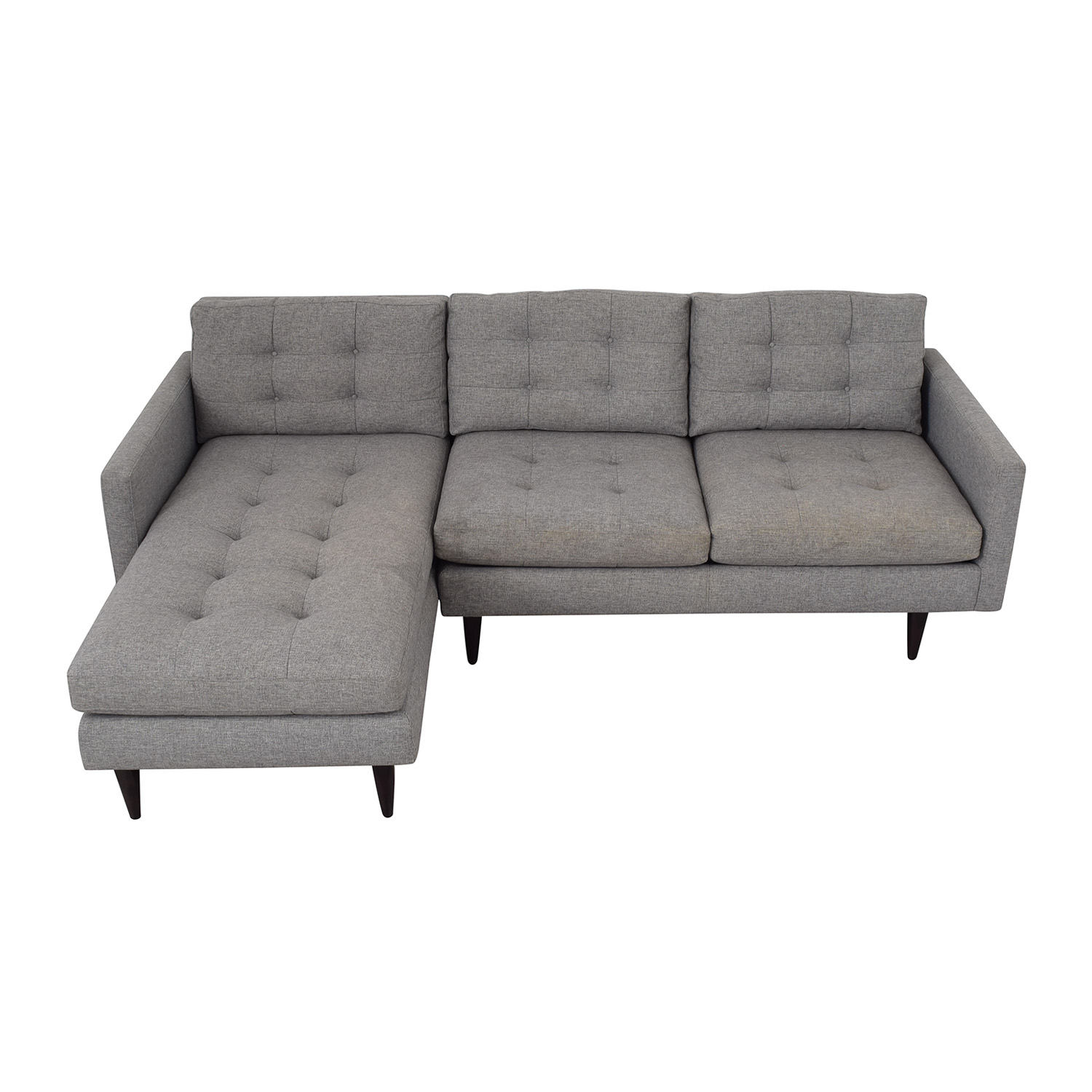 Crate & Barrel Crate & Barrel Petrie Mid Century Sectional Sofa with Chaise pa