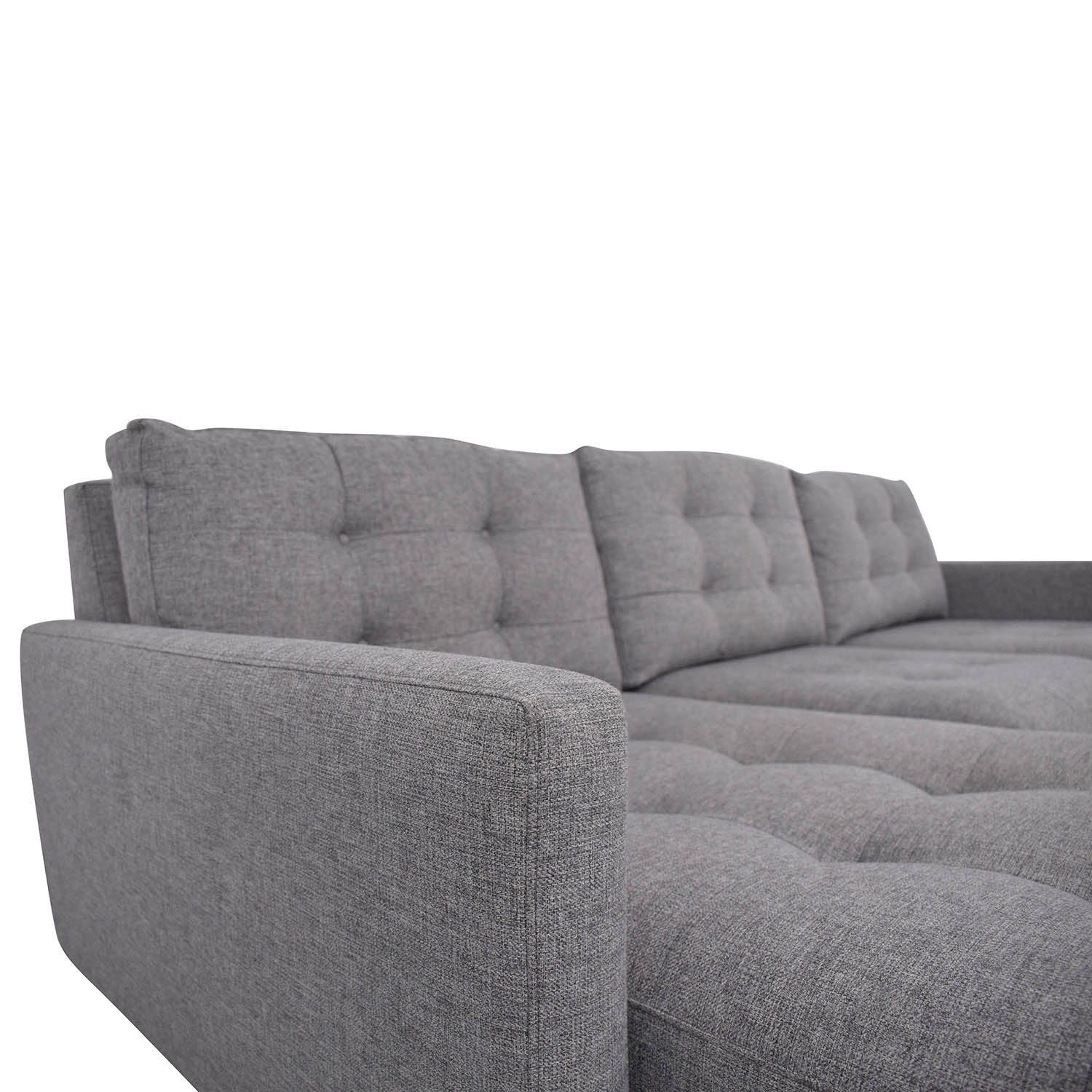 Crate & Barrel Crate & Barrel Petrie Mid Century Sectional Sofa with Chaise second hand