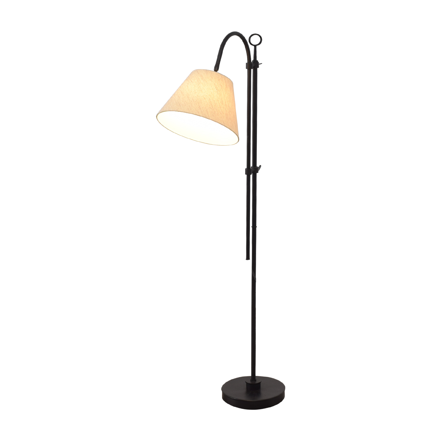 West Elm West Elm Tall Steel Lamp black & beige