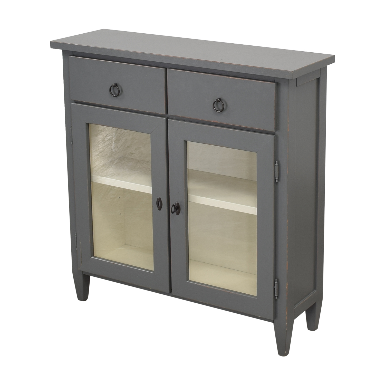 Crate & Barrel Crate & Barrel Stretto Grey Entryway Cabinet Cabinets & Sideboards