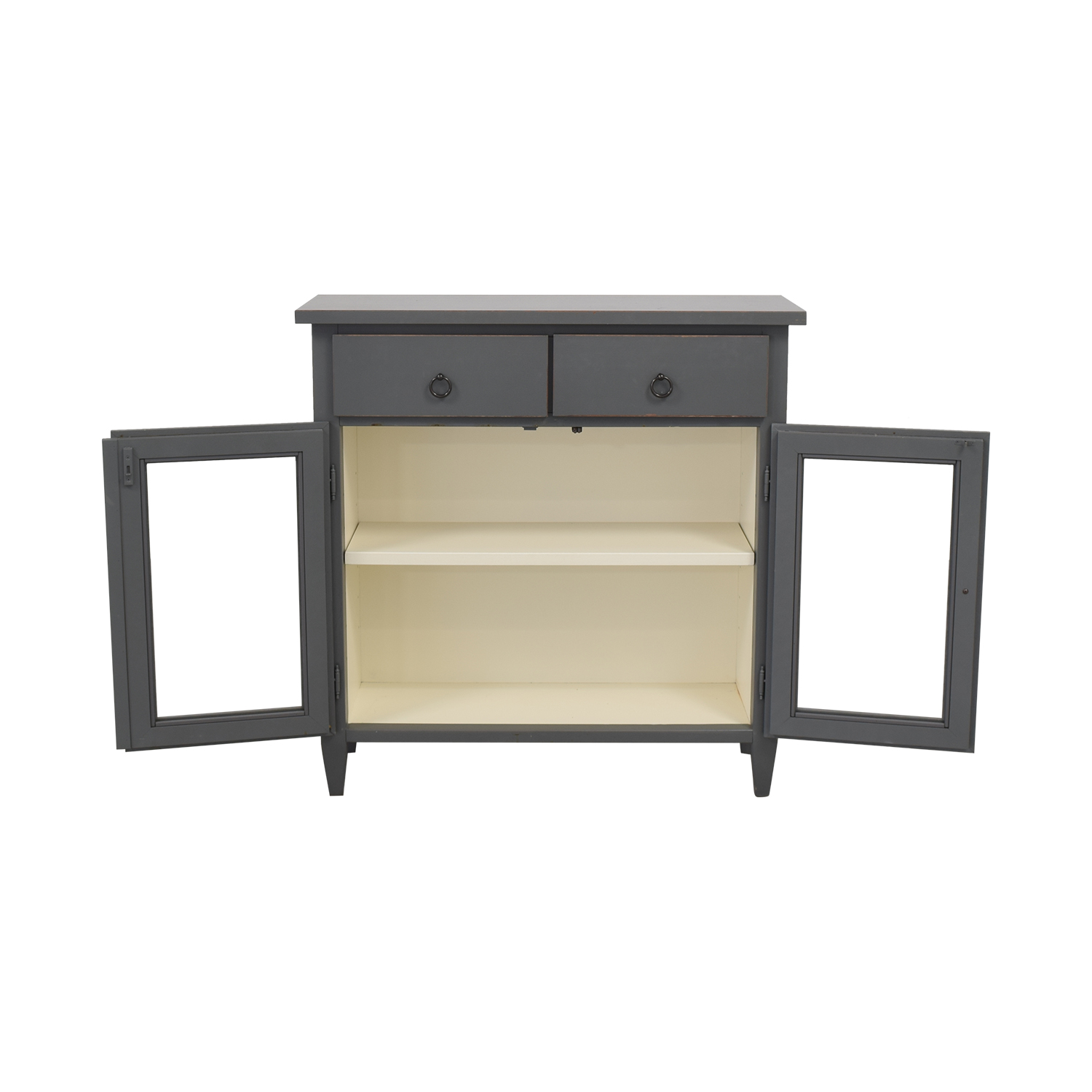 Crate & Barrel Crate & Barrel Stretto Grey Entryway Cabinet