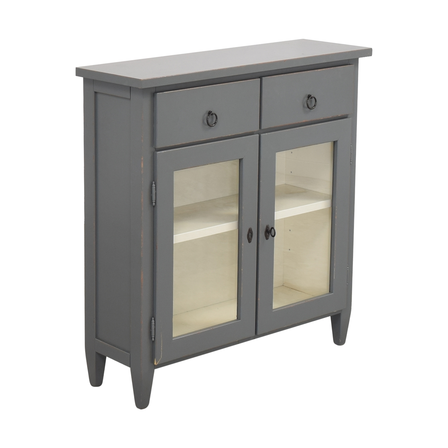 Crate & Barrel Crate & Barrel Stretto Grey Entryway Cabinet for sale
