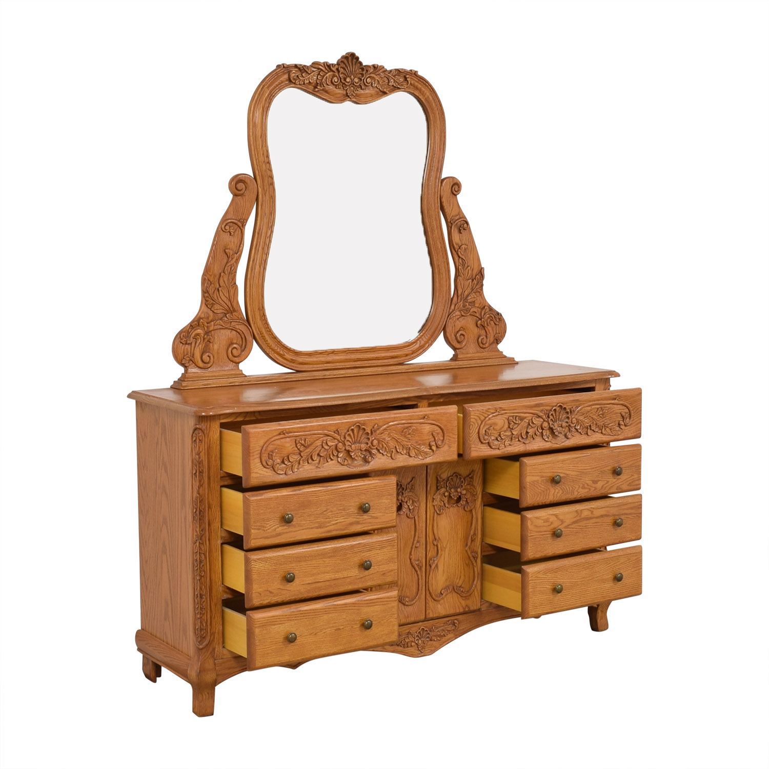 buy Eight Drawer Dresser with Mirror