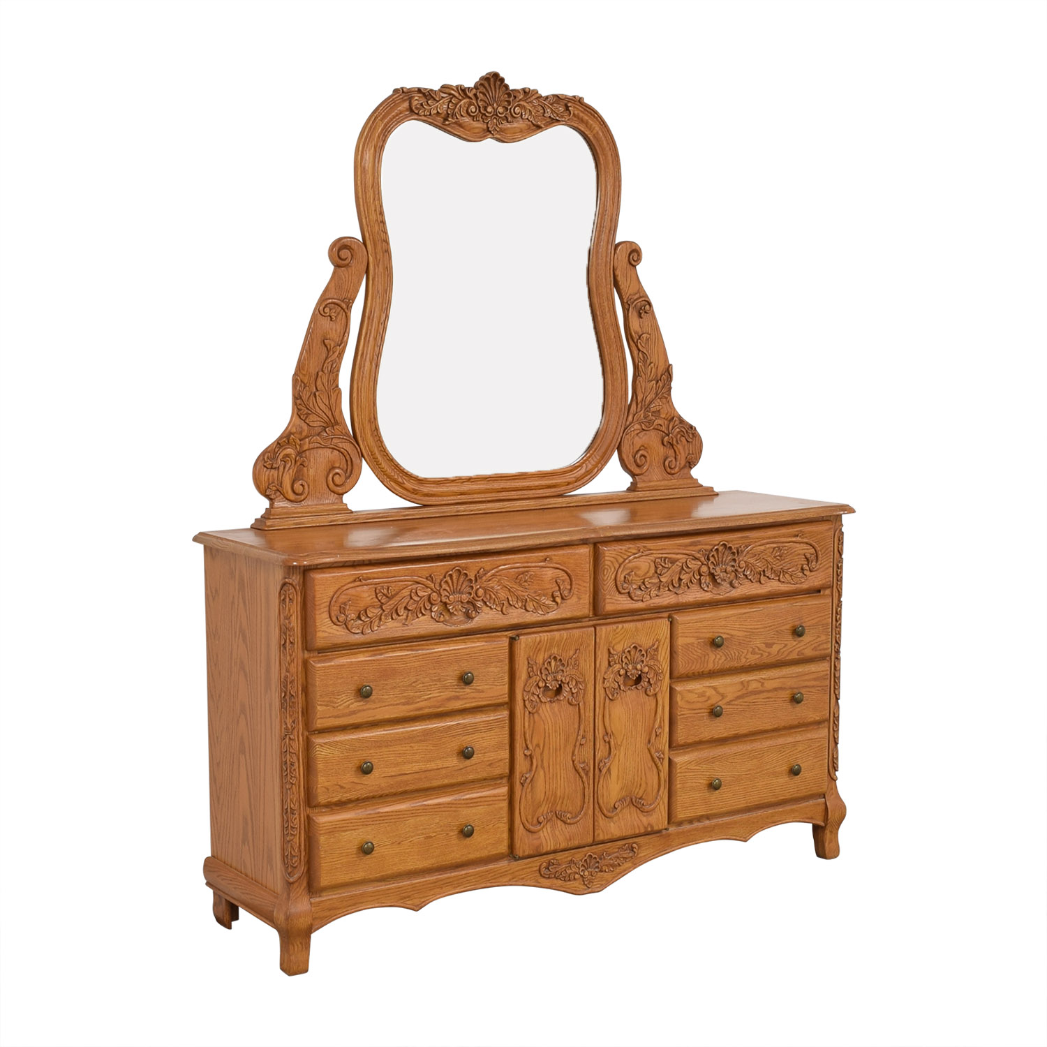 Eight Drawer Dresser with Mirror used
