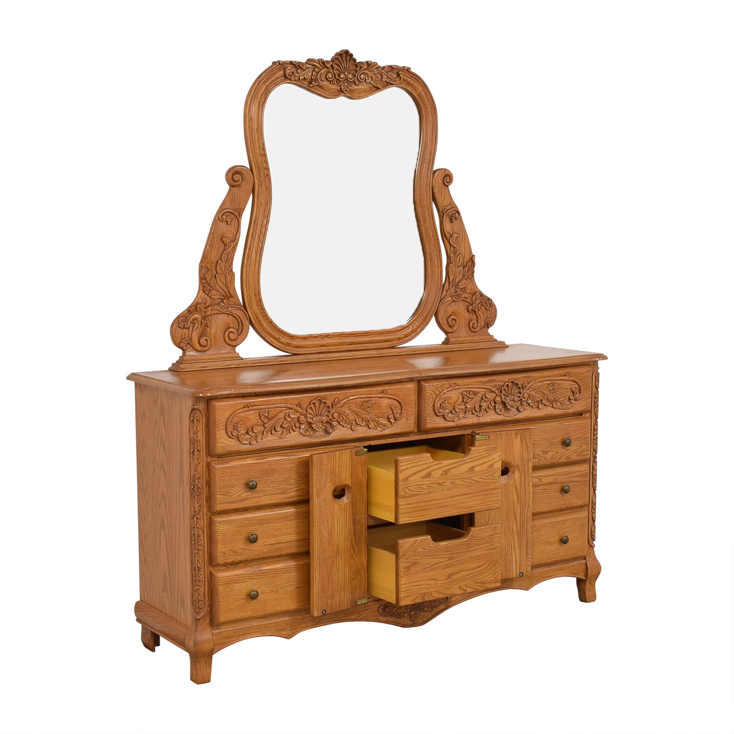 Eight Drawer Dresser with Mirror nj