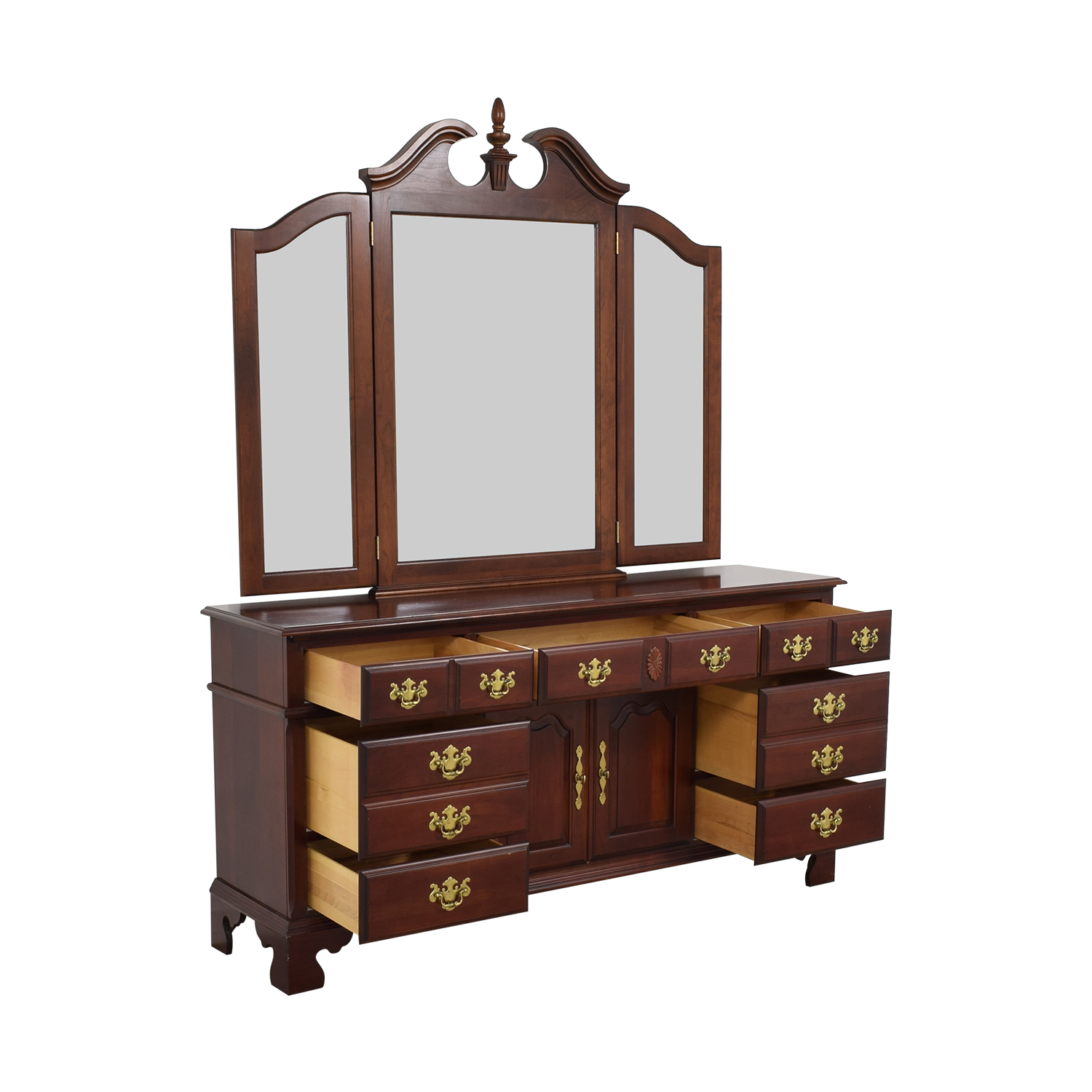 shop Pennsylvania House Seven Drawer Dresser with Cabinets Pennsylvania House