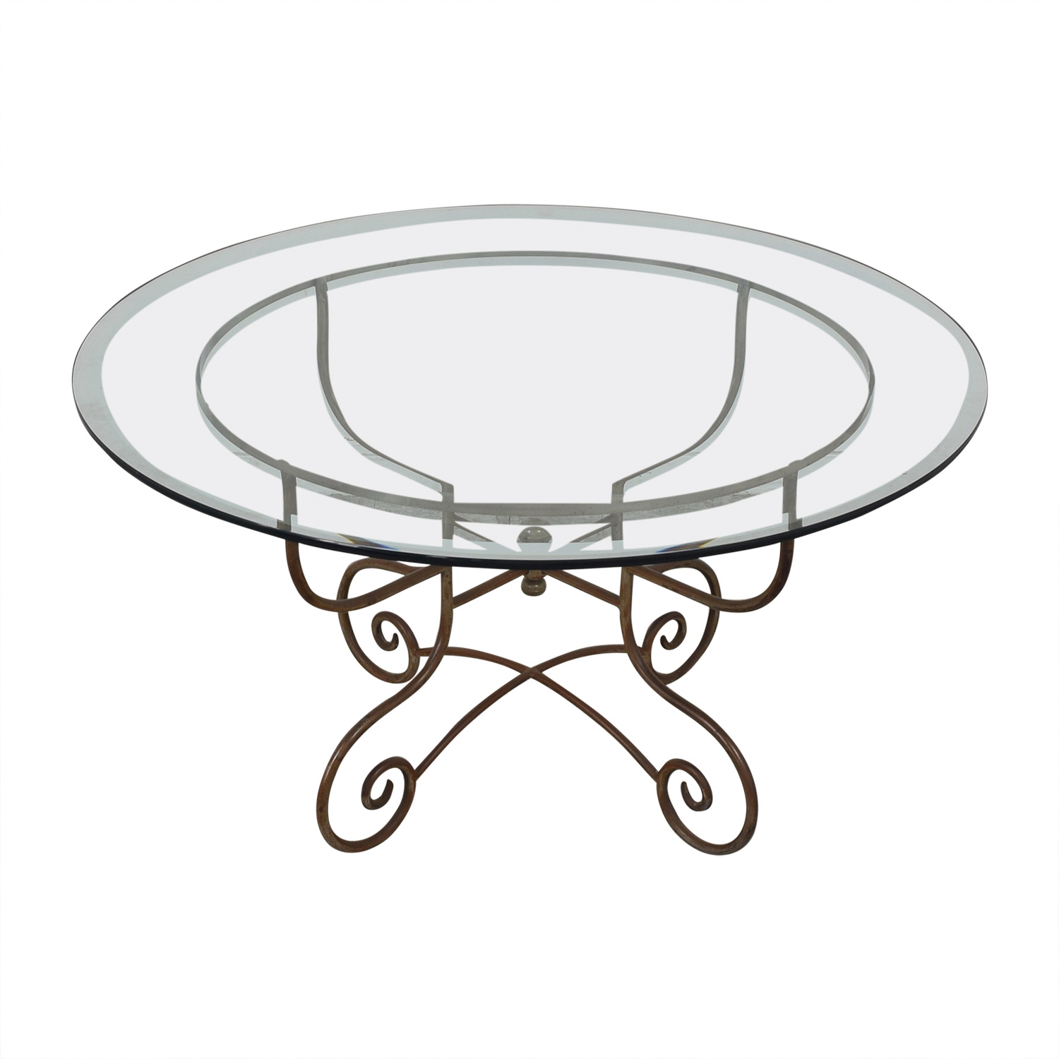 Bloomingdale's Bloomingdale's Glass and Metal Dining Table on sale