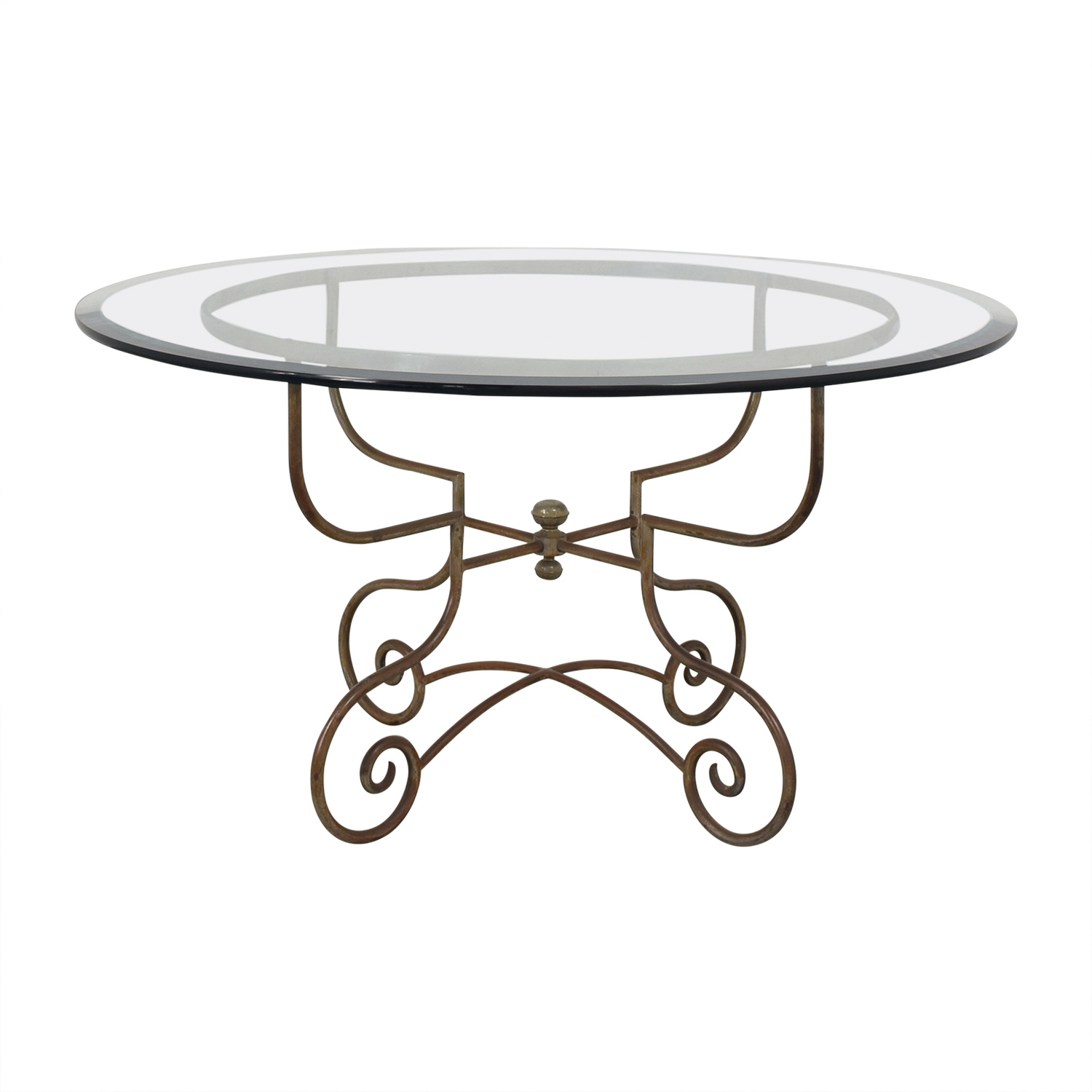 shop Bloomingdale's Bloomingdale's Glass and Metal Dining Table online