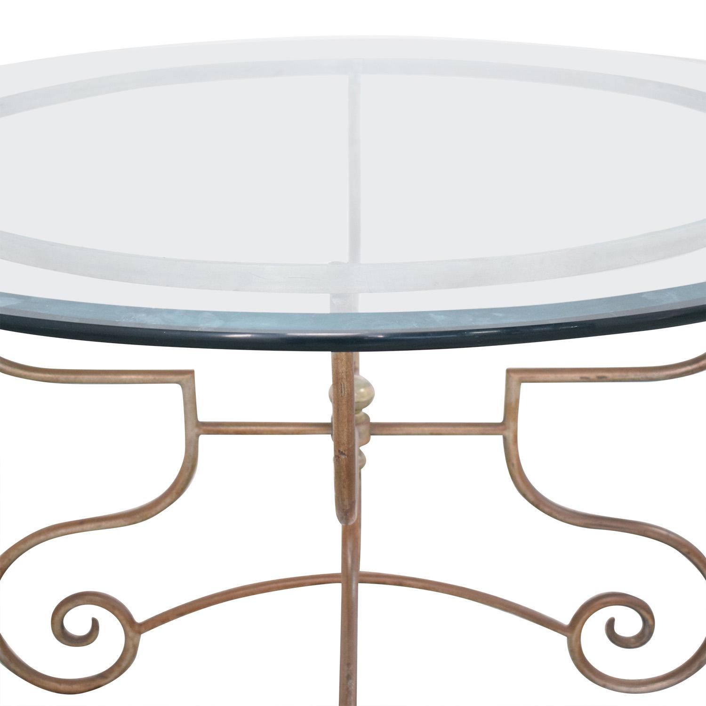 shop Bloomingdale's Bloomingdale's Glass and Metal Dining Table online