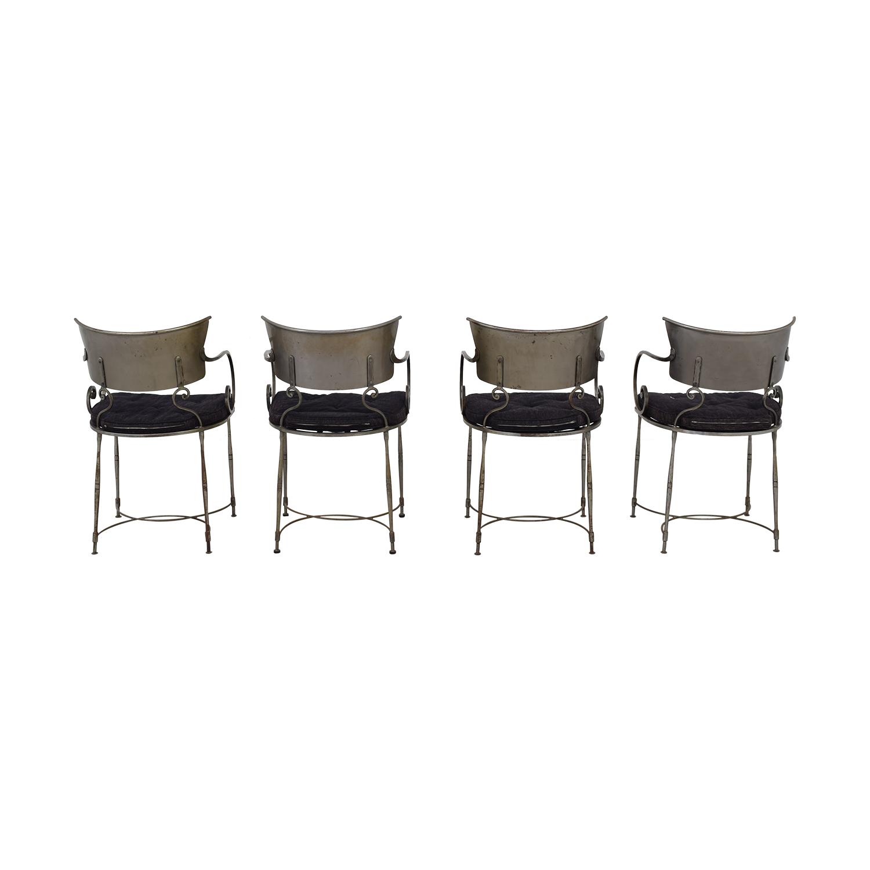 Bloomingdale's Bloomingdale's Four Metal Dining Chairs dimensions