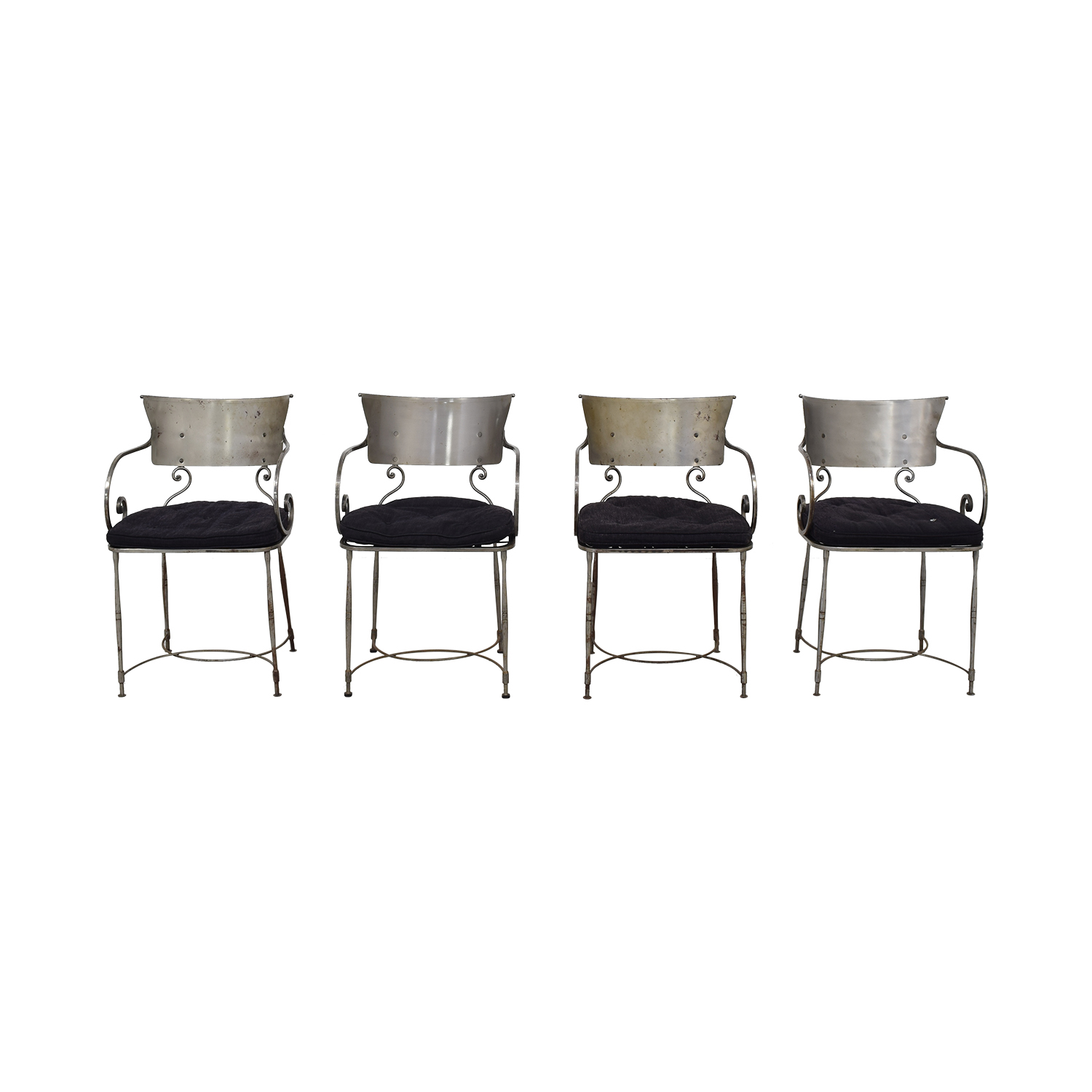 Bloomingdale's Bloomingdale's Four Metal Dining Chairs nj