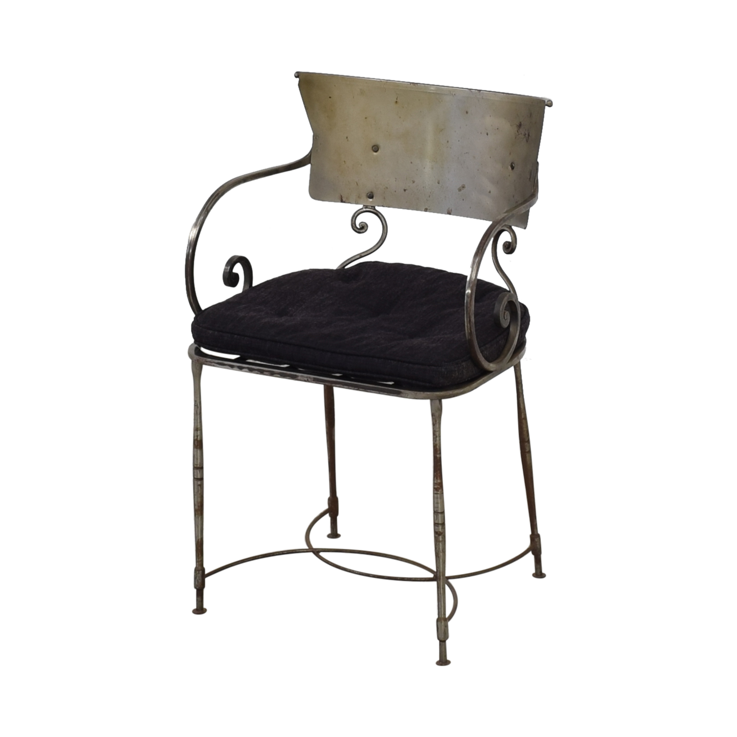 Bloomingdale's Four Metal Dining Chairs / Chairs