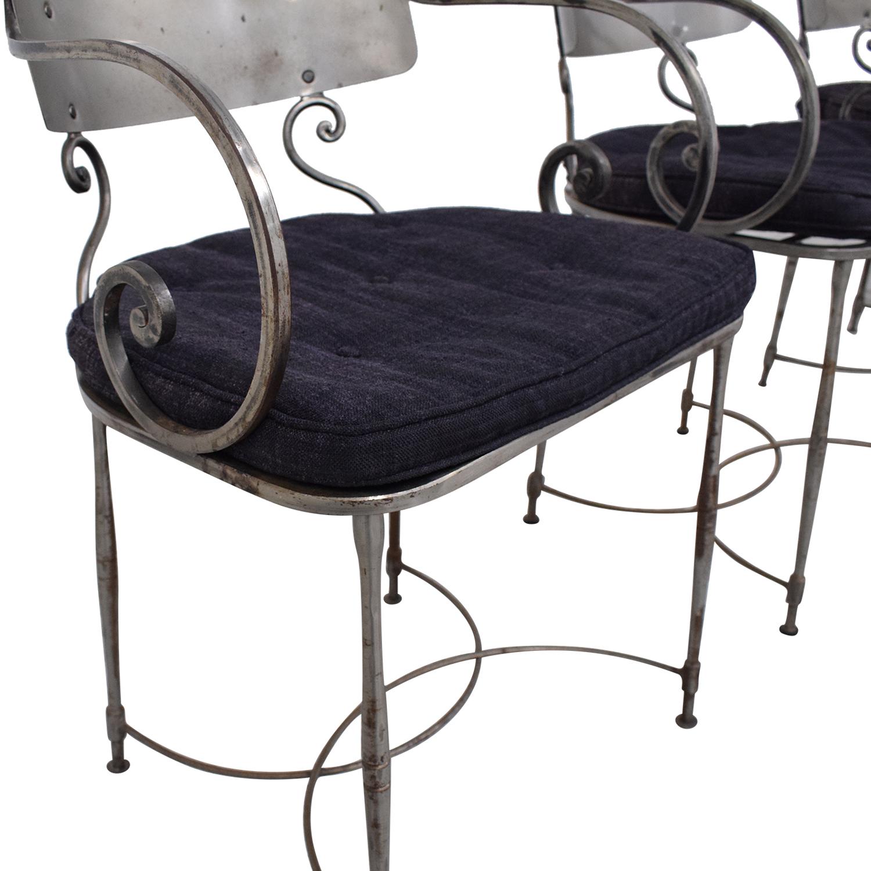 buy Bloomingdale's Four Metal Dining Chairs Bloomingdale's Dining Chairs