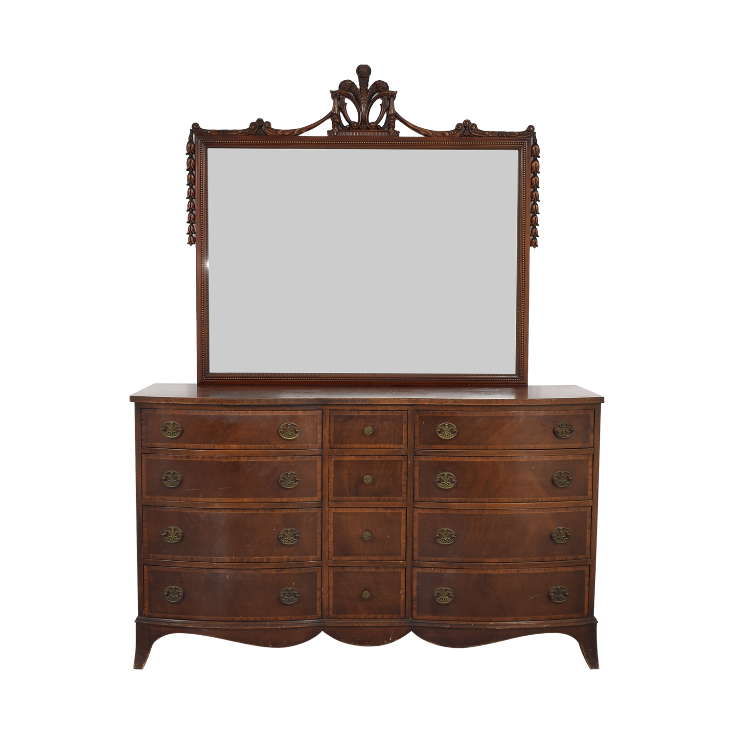 Twelve Drawer Dresser with Mirror dimensions