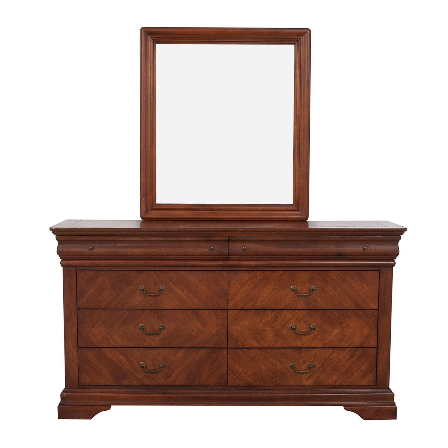 Collezione Europa Collezione Europa Dresser with Glass Mirror second hand