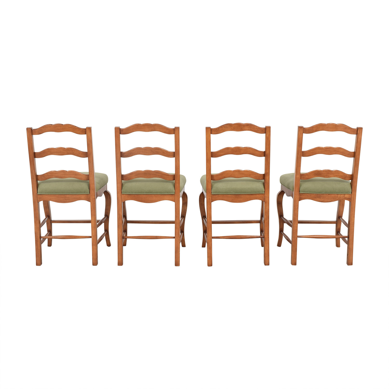Ladder Back Upholstered Stools / Stools