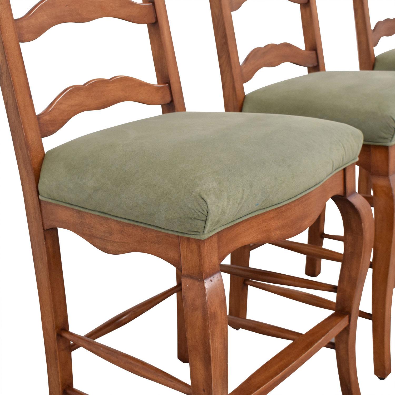 Ladder Back Upholstered Stools dimensions