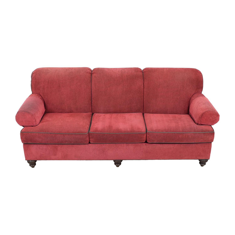 Ethan Allen Roll Arm Three Cushion Sofa Ethan Allen