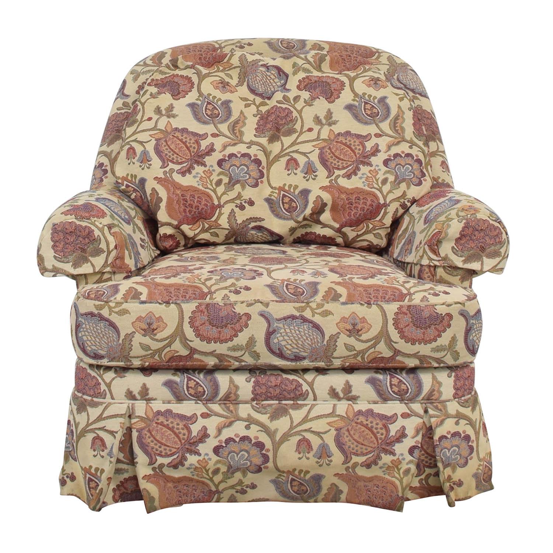 Ethan Allen Ethan Allen Charlotte Swivel Chair multicolored