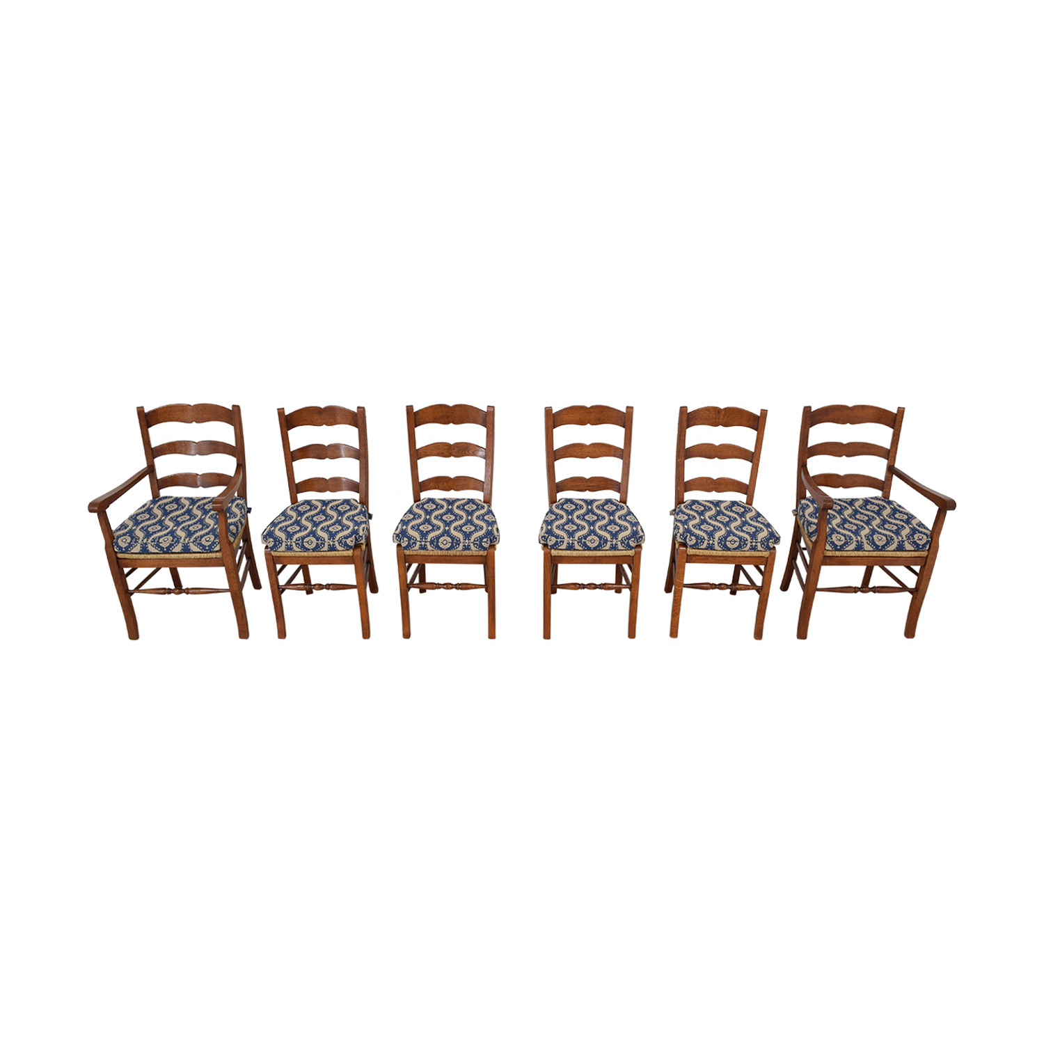 Ladder Back Cushioned Dining Chairs sale