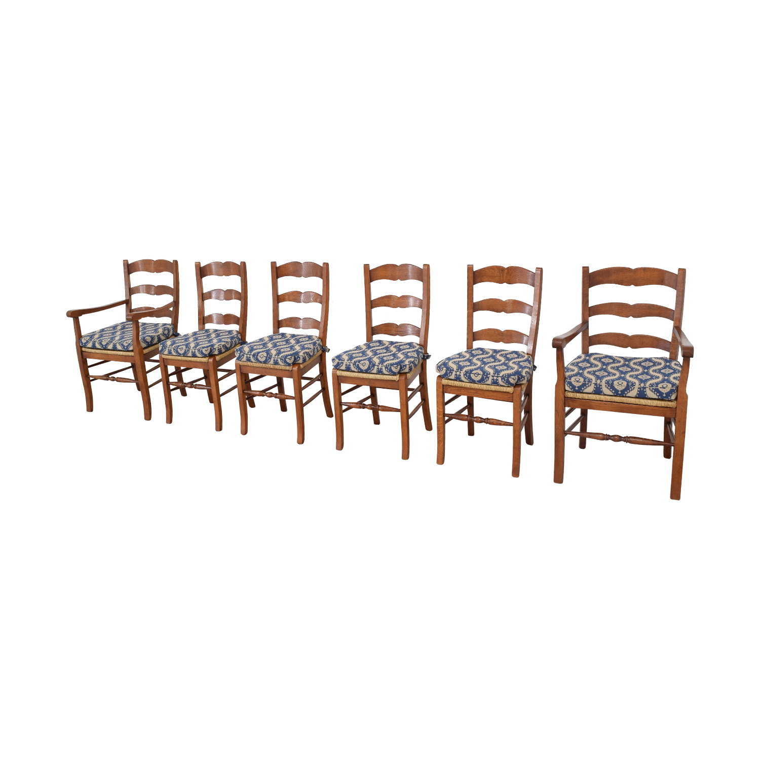 buy Ladder Back Cushioned Dining Chairs  Chairs