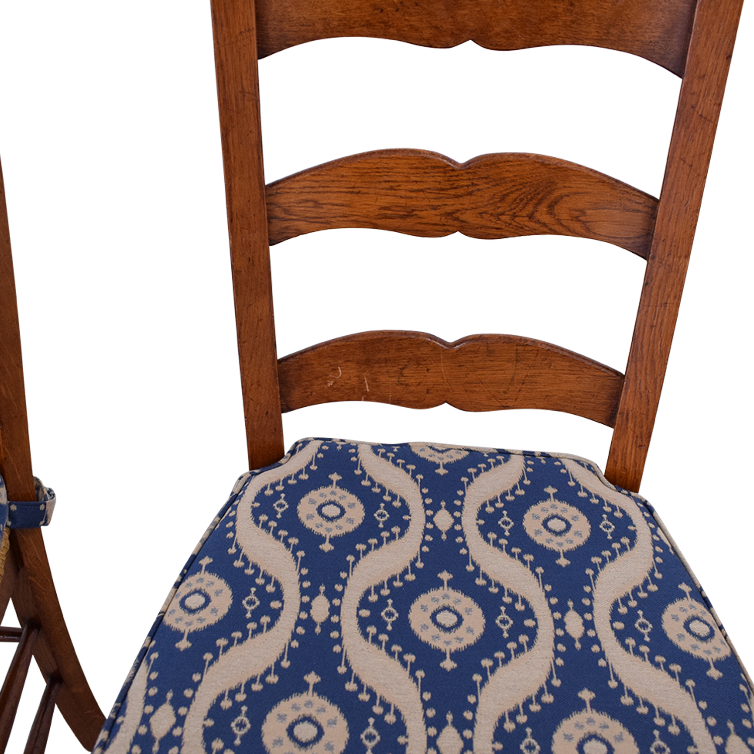 Ladder Back Cushioned Dining Chairs dimensions